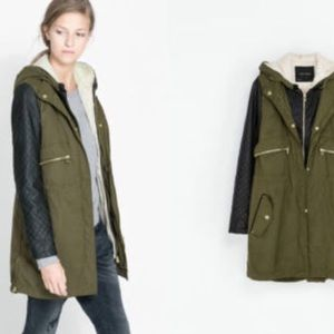 Zara Jackets & Coats - Zara Convertible Fur-lined Coat